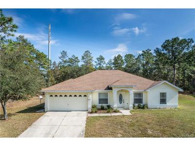 Homosassa Single Family Home For Sale: 7 Mayten Circle