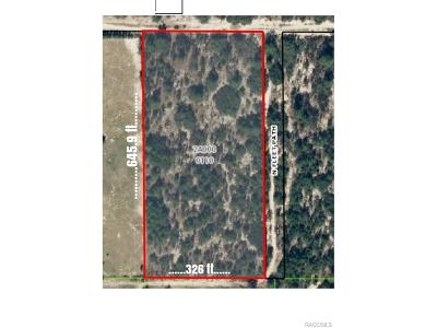 Citrus County Residential Lots & Land For Sale: 4784 W English Lane
