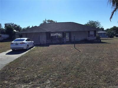 Citrus County Single Family Home For Sale: 20 S J Kellner Boulevard