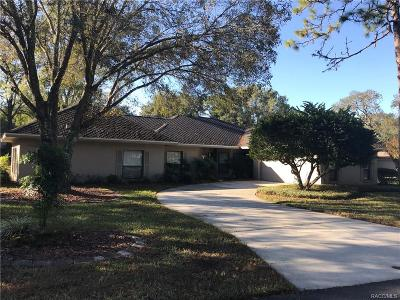 Lecanto Single Family Home For Sale: 3088 W Bermuda Dunes Drive
