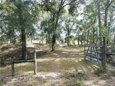 Floral City Residential Lots & Land For Sale: 13275 S Old Jones Road