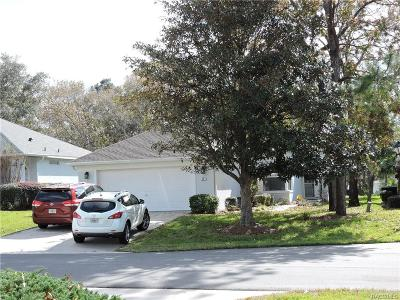 Citrus County Single Family Home For Sale: 56 W Byrsonima Loop