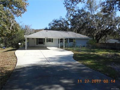 Hernando Single Family Home For Sale: 8493 N Oak River Way