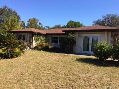 Lecanto FL Single Family Home For Sale: $289,000