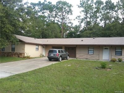 Crystal River Multi Family Home For Sale: 10903 W Gem Street
