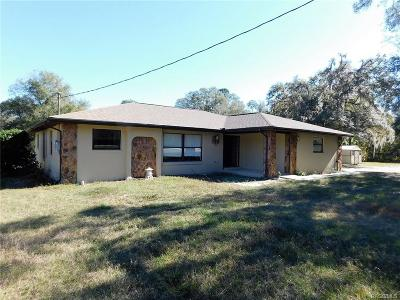 Citrus County Single Family Home For Sale: 3207 E Withlacoochee Trail