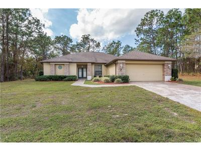 Homosassa Single Family Home For Sale: 3 Shamrock Court