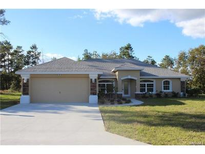 Homosassa Single Family Home For Sale: 2 Palm Grass Court