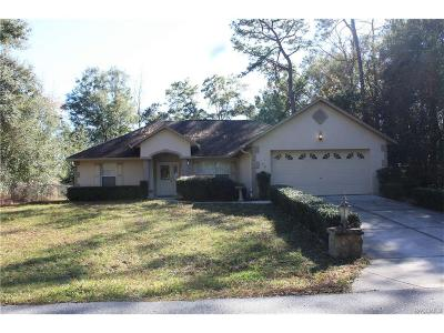 Citrus Springs Single Family Home For Sale: 70 W Lynnhaven Place