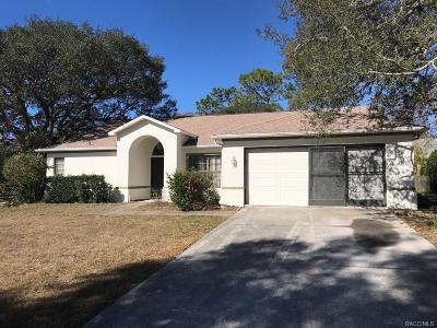 Lecanto Single Family Home For Sale: 489 N Turkey Pine Loop
