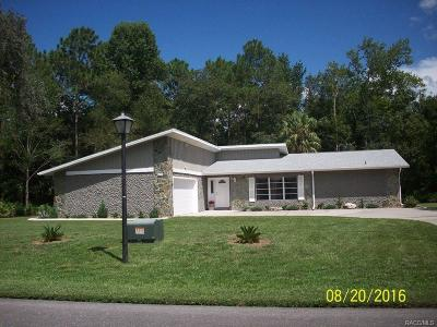 Homosassa Single Family Home For Sale: 82 Sycamore Circle