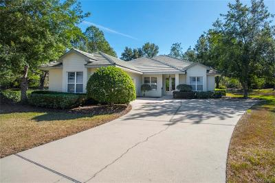 Lecanto Single Family Home For Sale: 3301 N Hammock Dunes Village Point