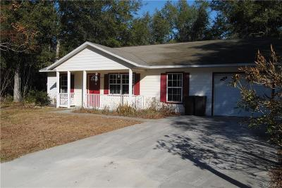 Citrus County Rental For Rent: 9667 W Sandra Street