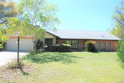 Citrus County Single Family Home For Sale: 7812 W Golf Club Street