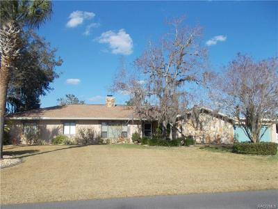 Crystal River Single Family Home For Sale: 827 SW Kings Bay Drive