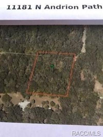 Inglis Residential Lots & Land For Sale: 11181 N Andrion Path