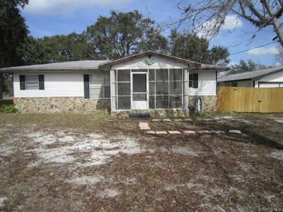 Inverness Single Family Home For Sale: 10027 E Gulf To Lake Highway