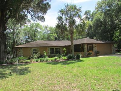 Inverness FL Single Family Home For Sale: $295,000