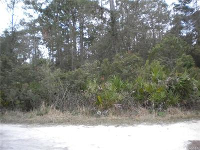 Homosassa Residential Lots & Land For Sale: 6984 W W Polaris Court