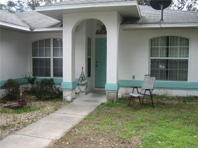 Citrus Springs Single Family Home For Sale: 8497 N Pocono Drive