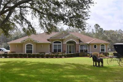 Floral City Single Family Home For Sale: 7222 E Savannah Court