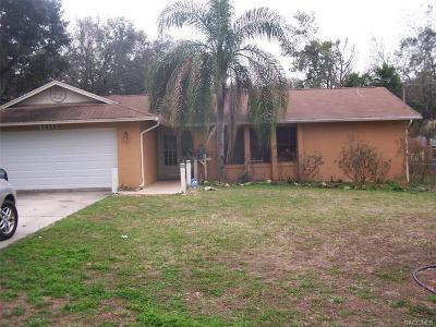 Crystal River Single Family Home For Sale: 5922 W Woodside Drive