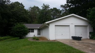 Inverness FL Single Family Home For Sale: $104,900