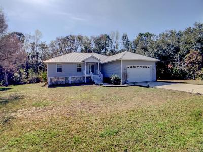 Crystal River Single Family Home For Sale: 11184 W Samson Lane