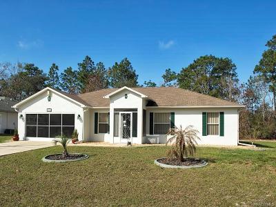 Citrus Springs Single Family Home For Sale: 6502 N Earlshire Terrace