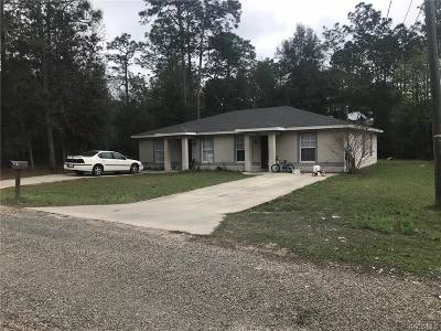 Citrus Springs Multi Family Home For Sale: 9261 Peachtree