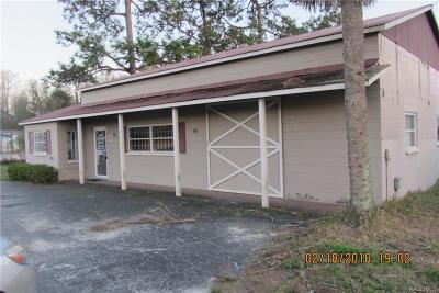 Citrus County Commercial For Sale: 7892 W Gulf To Lake Highway