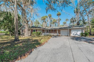 Homosassa, Dunnellon Single Family Home For Sale: 9329 W Spring Cove Road