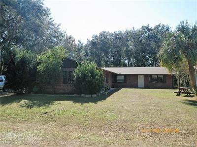 Crystal River Multi Family Home For Sale: 10890 W Gem Street