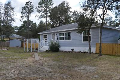 Crystal River Single Family Home For Sale: 1690 N Timbercrest Way