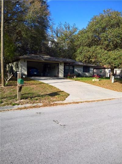 Citrus County Single Family Home For Sale: 1320 Keats Street