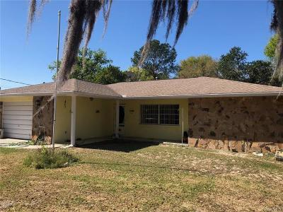 Inverness FL Single Family Home For Sale: $115,000