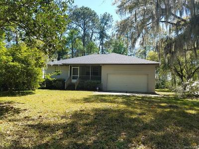 Levy County Single Family Home For Sale: 10870 SE 201st Street
