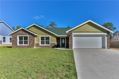 Lecanto FL Single Family Home For Sale: $233,000