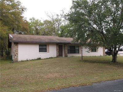 Citrus County Single Family Home For Sale: 5701 S Garcia Terrace