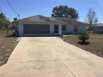 Inverness Single Family Home For Sale: 4026 E Wilma Street