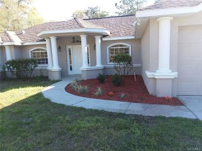 Citrus Springs Single Family Home For Sale: 2300 W Arbutus Drive