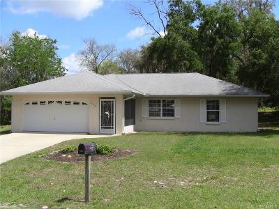 Inverness Single Family Home For Sale: 127 N Dundee Way