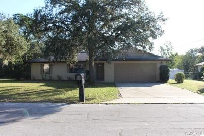 Citrus County Single Family Home For Sale: 9079 N Dickens Drive