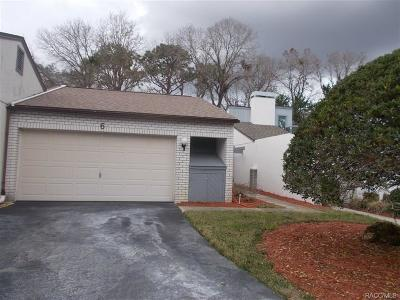 Citrus County Condo/Townhouse For Sale: 6 Pinewood Gardens