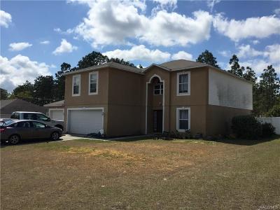 Citrus County Single Family Home For Sale: 7222 N Varsity Avenue
