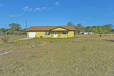 Lecanto Single Family Home For Sale: 7250 S Lecanto Highway
