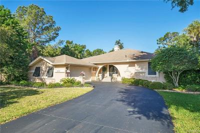 Homosassa Single Family Home For Sale: 5282 S Riverside Drive