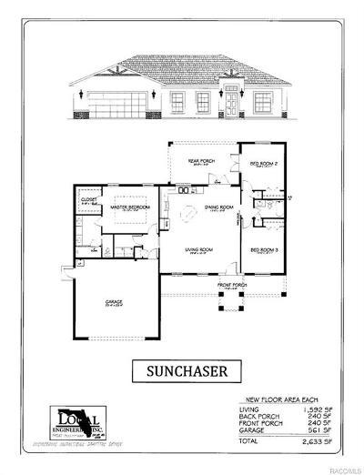 Inverness Single Family Home For Sale: 4164 Lot 3 E Bennett Street