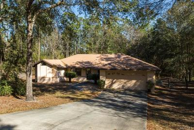 Floral City Single Family Home For Sale: 12055 S Canna Point