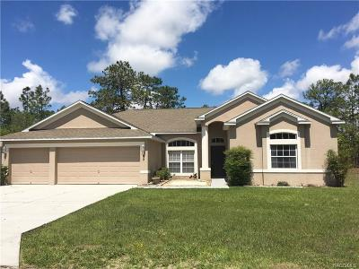 Homosassa Single Family Home For Sale: 30 Boxleaf Court